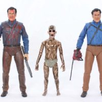 NECA Ash vs Evil Dead Bloody Ash vs Demon Spawn 3 Pack Starz TV Series Action Figure Review