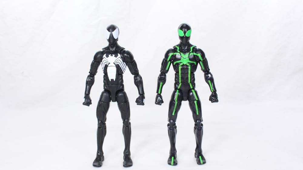 Photos Marvel Legends Black Suit Spider-Man ... & Marvel Legends Black Suit Spider-Man 2016 Sandman BAF Wave Comic ...