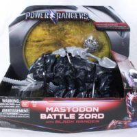 Power Rangers 2017 Mastodon Battle Zord with Black Ranger Bandai Action Figure Toy Review