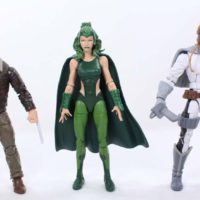 Marvel Legends Polaris X-Men Warlock BAF Wave Marvel Comics Action Figure Toy Review