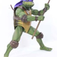 NECA TMNT 1:4 Scale Donatello 1990 Teenage Mutant Ninja Turtles Movie Action Figure Toy Review
