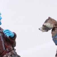 Marvel Legends Rocket and Groot Mantis BAF Guardians of the Galaxy Vol  2 Action Figure Toy Review