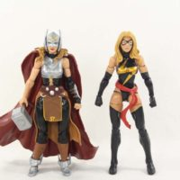 Marvel Legends Lady Thor Jane Foster Thor Ragnarok Gladiator Hulk BAF Wave Action Figure Toy Review