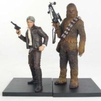 Han Solo and Chewbacca Star Wars The Force Awakens Kotobukiya ArtFX+ Statue 2 Pack Review