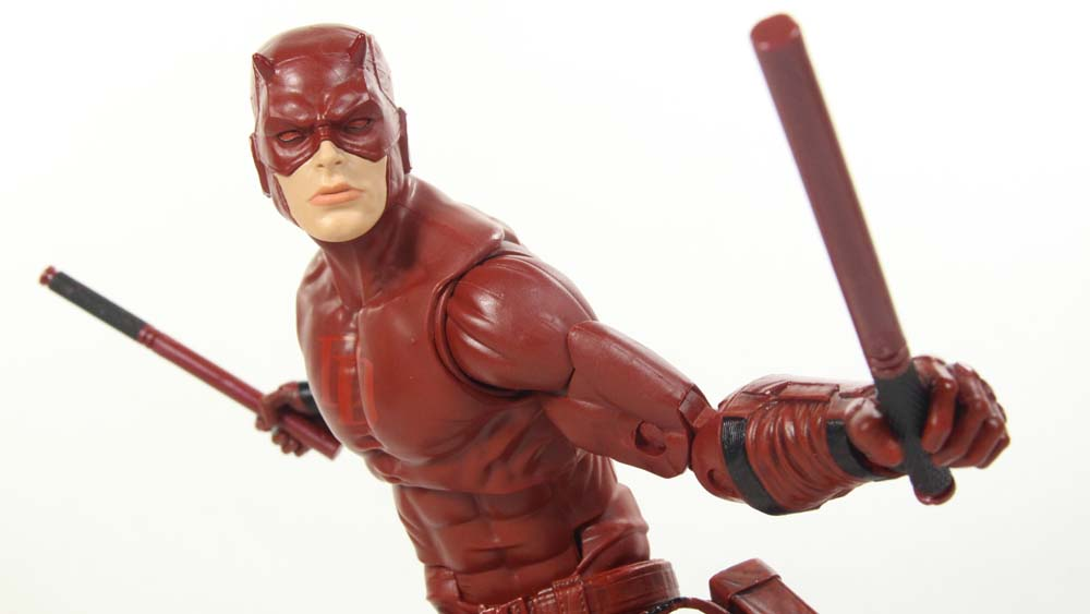 SDCC 2017 Daredevil 12 Inch Marvel Legends Series 1:6 Scale Hasbro Quesada Style Figure Toy Review
